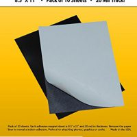 "upvoted.top:10 Adhesive Magnetic Sheets - 8.5"" x 11"" - 20 mil Magnet - Peel & Stick"