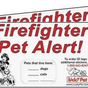 """upvoted.top:2 Firefighter Pet Alert Stickers - 3M Reflective 3"""" x 5"""" Stickers"""
