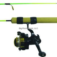 """upvoted.top:25"""" Neon Extreme Medium Action Ice Fishing Rod Combo Green / Chartreuse"""