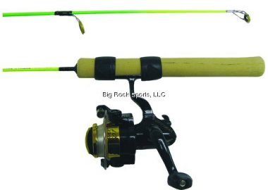 "upvoted.top:25"" Neon Extreme Medium Action Ice Fishing Rod Combo Green / Chartreuse"