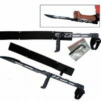 "upvoted.top:27.5"" Large Blood Rayne Ninja Forearm Vampire Zombie Machete Sword Blade Knife"