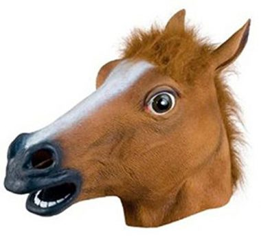upvoted.top:Accoutrements Horse Head Mask