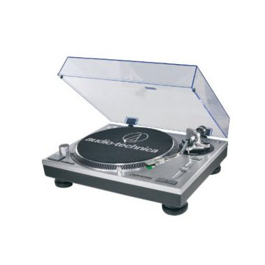 upvoted.top:Audio-Technica AT-LP120-USB Direct-Drive Professional Turntable in Silver
