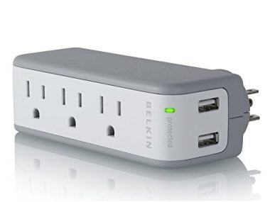 upvoted.top:Belkin Mini Surge Protector with USB Charger - 1 AMP (Retail Package)