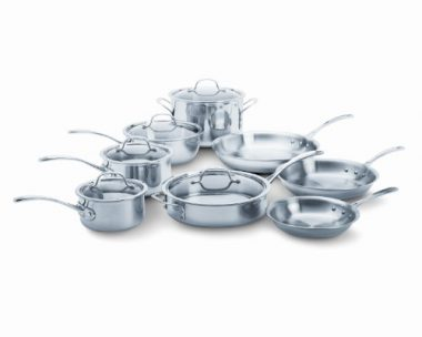 upvoted.top:Calphalon Tri-Ply Stainless Steel 13-Piece Cookware Set