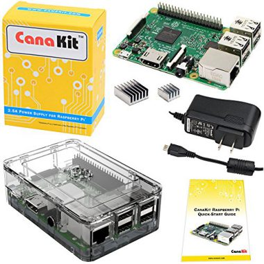 upvoted.top:CanaKit Raspberry Pi 3 Kit with Clear Case and 2.5A Power Supply