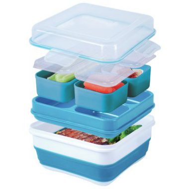 upvoted.top:Cool Gear Ez-freeze Collapsible Bento Box (Assorted Colors)
