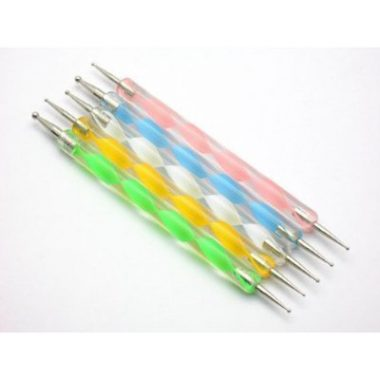upvoted.top:Dotting 5 X 2 Way Marbleizing Dotting Pen Set for Nail Art Manicure Pedicure