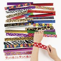 upvoted.top:Fun Express Slap Bracelet Assortment - 50 Pieces