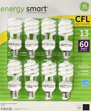 upvoted.top:GE 13-Watt Energy Smart Fluorescent Light Bulbs