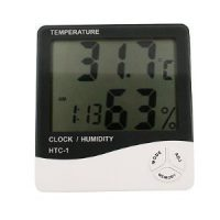 upvoted.top:Generic GEN60528 Temperature and Humidity Meter with Alarm Clock Hygrometer