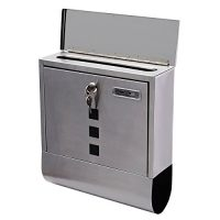upvoted.top:Giantex Wall Mount Mail Box Steel w/ Retrieval Door & 2 Keys & Newspaper Roll