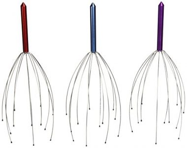 upvoted.top:Hand Held Scalp Head Massager - Set of Three ( Colors May Vary )