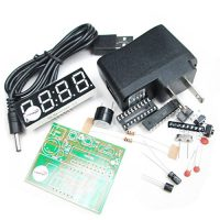 upvoted.top:HiLetgo Electronic Production Suite 51 Electronic Clock Four Clock Kit