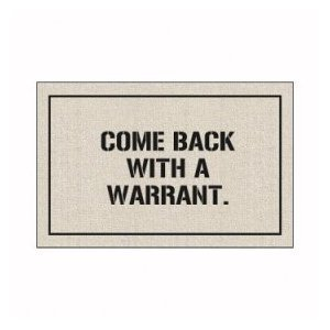 upvoted.top:High Cotton Doormat - Come Back with a Warrant