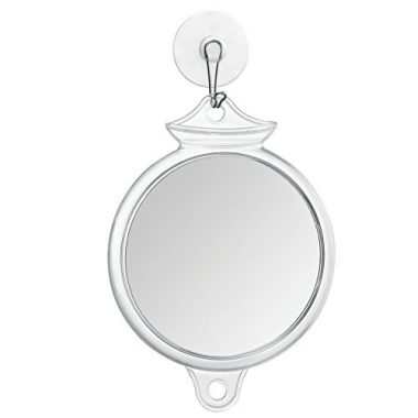 upvoted.top:InterDesign Suction Fog Free Shower Shaving Mirror for Bathroom - Clear