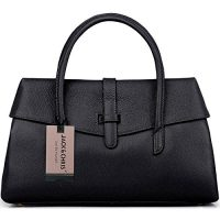 upvoted.top:Jack&ChrisLadies' Leather Tote Top Handle Handbags