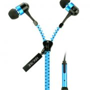 upvoted.top:KingTime Blue 3.5mm plug in-ear stereo zip metal earphones for iphone