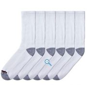 upvoted.top:Kirkland Men's Athletic Socks Size Large - fits men's shoe size 8-12 (Pack of 10)