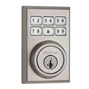 upvoted.top:Kwikset 909 Contemporary SmartCode Electronic Deadbolt featuring SmartKey in Satin Nickel