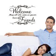 upvoted.top:LUCKKYY®Welcome may all who come as guests leave as friends Vinyl Wall Decal