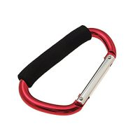 upvoted.top:Large Clip Hook Aluminum Carabiner Red with Soft Grip