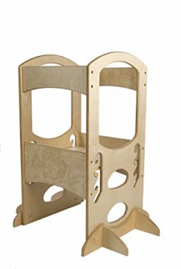 upvoted.top:Little Partners Learning Tower Kids Adjustable Height Kitchen Step Stool for Toddlers or Any Litt...