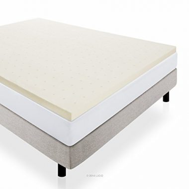 upvoted.top:Lucid 2-Inch Ventilated Memory Foam Mattress Topper