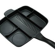 upvoted.top:Master Pan Non-Stick Divided Grill/Fry/Oven Meal Skillet