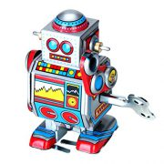 upvoted.top:Mini Multi-color Wind Up Robot Toy
