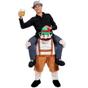 upvoted.top:New Carry Me Mascot Beer Guy Beer Ride On Mascot Piggy Back Carry Me Oktoberfest Fancy Party Dres...