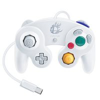 upvoted.top:Nintendo Super Smash Bros. White Classic Gamecube Controller