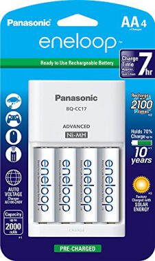 upvoted.top:Panasonic K-KJ17MCA4BA Advanced Individual Cell Battery Charger Pack with 4AA eneloop 2100 Cycle ...