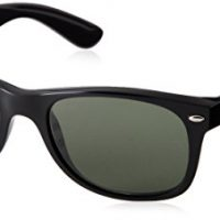 upvoted.top:Ray-Ban RB2132 - New Wayfarer Non-Polarized Sunglasses Black Frame Crystal Green Lens Size 55