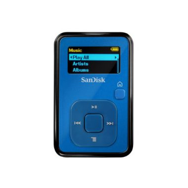 upvoted.top:SanDisk Sansa Clip+ 4 GB MP3 Player (Blue) (Discontinued by Manufacturer)