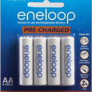 upvoted.top:Sanyo Eneloop AA NiMH Pre-Charged Rechargeable Batteries - 4 Pack (Discontinued by Manufacturer)