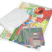 upvoted.top:Sesame Street Table Topper Disposable Stick-on Placemats with Reusable Pop-up Travel Case