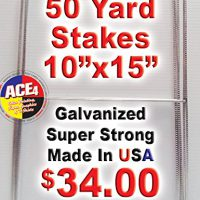 """upvoted.top:Standard """"H"""" Frame Wire Stakes 10"""" x30"""" Pkg of 50 - Yard Sign Stake - Use with 4mm Corrugated Sig..."""