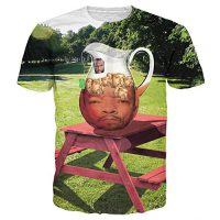 upvoted.top:T-shirt 3D Print Mr. T Ice-T With Ice Cubes Funny Short Sleeves (L)