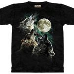 The Mountain Men's Three Wolf Moon Short Sleeve T-Shirt,Dark Green,Small