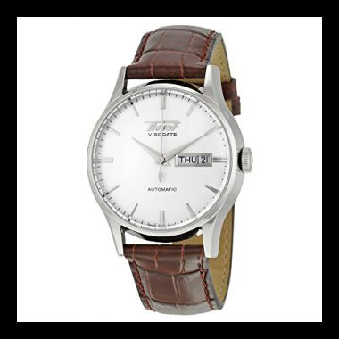 upvoted.top:Tissot Men's TIST0194301603101 Heritage Visodate Stainless Steel Automatic Watch with Brown Leath...