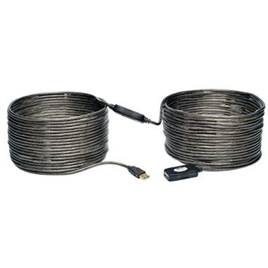 upvoted.top:Tripp Lite USB 2.0 Hi-Speed Active Extension Repeater Cable (A M/F) 20 Meter (65-ft.) (U026-20M)