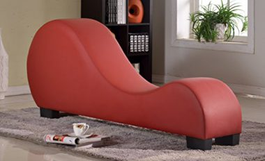 upvoted.top:US Pride Furniture Faux Leather Stretch Chaise Relaxation and Yoga Chair
