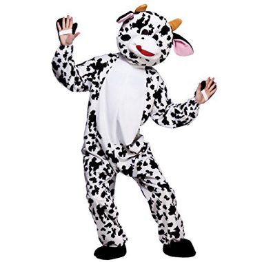 upvoted.top:Unisex Mini Mascot Animal Sports & Charity Event Fancy Dress Costume - Cow