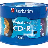 upvoted.top:Verbatim CD-R 80min 52X with Digital Vinyl Surface - 50pk Spindle 94587