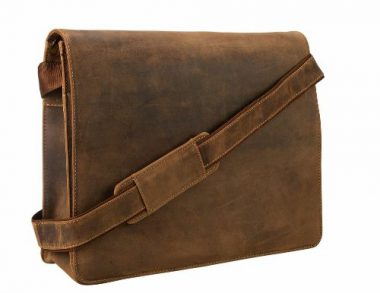 upvoted.top:Visconti Visconti Leather Distressed Messenger Bag Harvard Collection