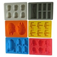upvoted.top:Win&Co Star Wars Theme Style Molds for Ice Cubes-Chocolate- Set of 6