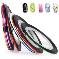 upvoted.top:World Pride Nail Tape Stripe Decoration Sticker Hologram Set of 10