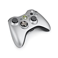 upvoted.top:Xbox 360 Silver Controller and Play & Charge Kit