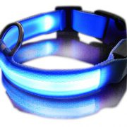 upvoted.top:Zehui Rechargeable LED Dog Safety Collar Puppy Pet Harness (Blue